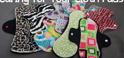 caring for cloth pads