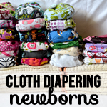 newborn cloth diapering