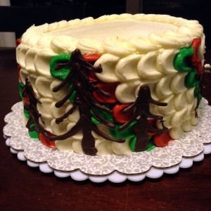 finished christmas cake
