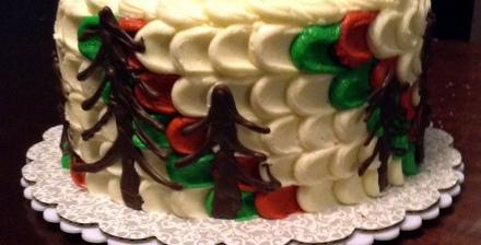 finished christmas cake